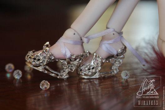 Одежда для кукол ручной работы. Ярмарка Мастеров - ручная работа. Купить Ювелирные туфли для кукол (bjd) на стопу 4-4,5 см. Handmade.