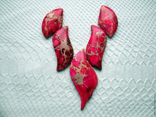 """Для украшений ручной работы. Ярмарка Мастеров - ручная работа. Купить Набор крупных кабошонов из варисцита 5шт """"Роза"""". Handmade."""