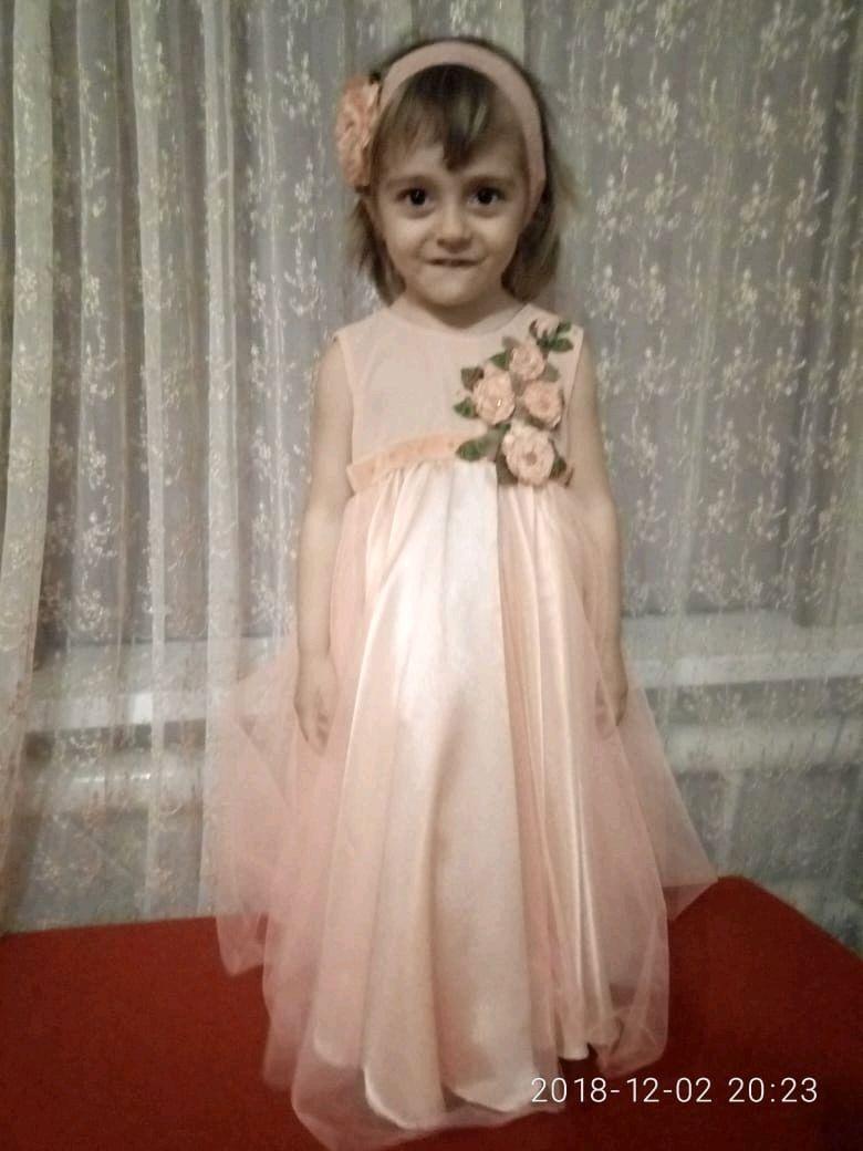 """Нарядное платье """"Персикововый цвет"""""""