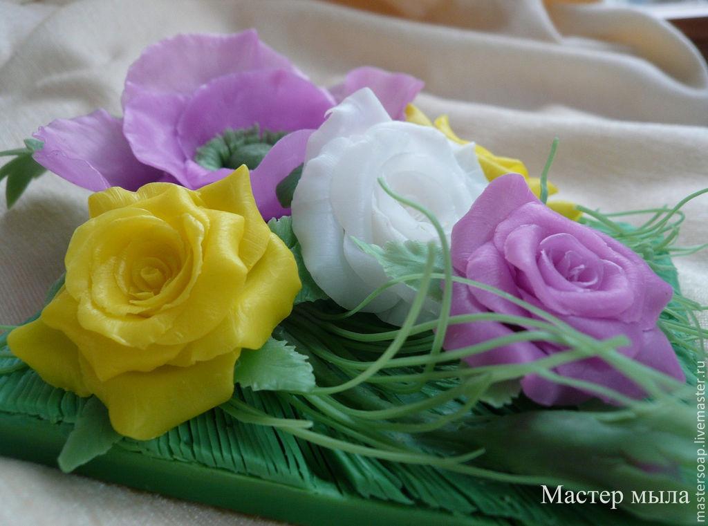 Цветы в мыле мастер класс
