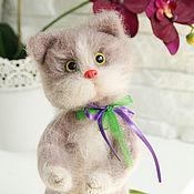 Куклы и игрушки handmade. Livemaster - original item Knitted cat Masaryk. Handmade.