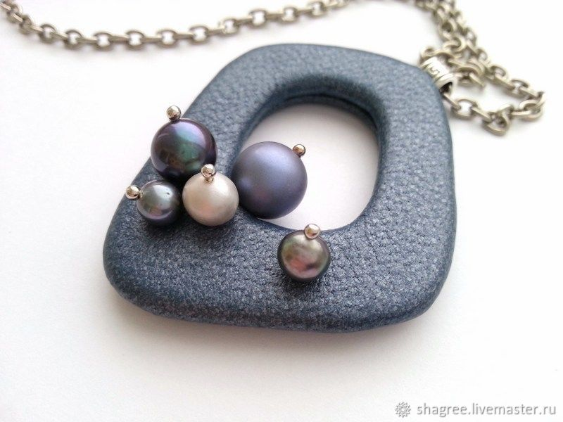 Pendant from the skin of Twilight with pearls, Pendants, Moscow,  Фото №1