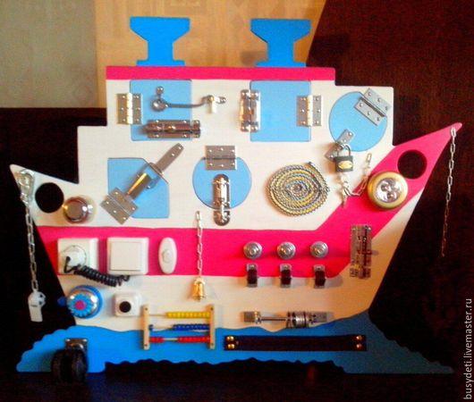 """Развивающие игрушки ручной работы. Ярмарка Мастеров - ручная работа. Купить Бизиборд """"Кораблик"""". Handmade. Бизиборд, бизиборд рязань"""