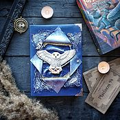 Канцелярские товары handmade. Livemaster - original item A notebook with an owl Hedwig. Notebook based on the Harry Potter universe.. Handmade.