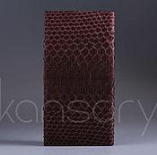 Сумки и аксессуары handmade. Livemaster - original item Vertical wallet made from Python IMP0039K. Handmade.
