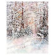 Картины и панно ручной работы. Ярмарка Мастеров - ручная работа Прогулки по зимнему лесу. Handmade.