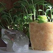 Косметика ручной работы. Ярмарка Мастеров - ручная работа Хрусталь. Шалфейно-лимонное мыло-скраб с пшеницей. Handmade.