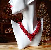 "Украшения handmade. Livemaster - original item Necklace ""Summer berries"" coral, garnet. Handmade."