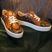 Обувь ручной работы. Ярмарка Мастеров - ручная работа Кеды Лаура натуральный питон. Handmade.