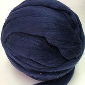 Материалы для творчества handmade. Livemaster - original item Australian Merino Dark blue.Germany.19 MD. wool for felting. Handmade.