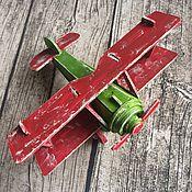Комплекты аксессуаров для дома ручной работы. Ярмарка Мастеров - ручная работа Самолет Ретро Биплан. Handmade.