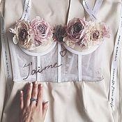 Украшения handmade. Livemaster - original item FABRIC FLOWERS. Set of roses for a corset dress. Handmade.