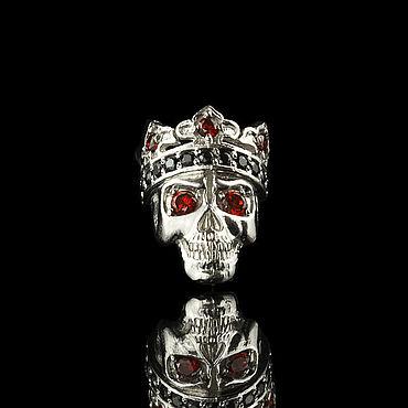 """Украшения ручной работы. Ярмарка Мастеров - ручная работа Бусина для браслета пандора с черепом """"Santa Muerte"""". Handmade."""
