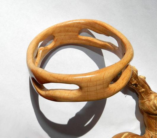 """Браслеты ручной работы. Ярмарка Мастеров - ручная работа. Купить Браслет из дерева """"Солнечный"""" (ясень). Handmade. Браслет из дерева"""
