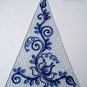 """Одежда ручной работы. Ярмарка Мастеров - ручная работа декор для одежды """"Гжель"""". Handmade."""
