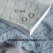 Фурнитура для шитья ручной работы. Ярмарка Мастеров - ручная работа Золотое кольцо для бретели 10 мм металлическое. Handmade.