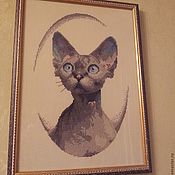 """Картины ручной работы. Ярмарка Мастеров - ручная работа Кошка """"Клеопатра"""". Handmade."""