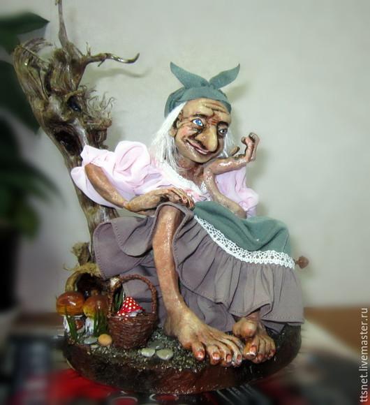 Коллекционные куклы ручной работы. Ярмарка Мастеров - ручная работа. Купить Баба Яга. Handmade. Морская волна, сказочный персонаж
