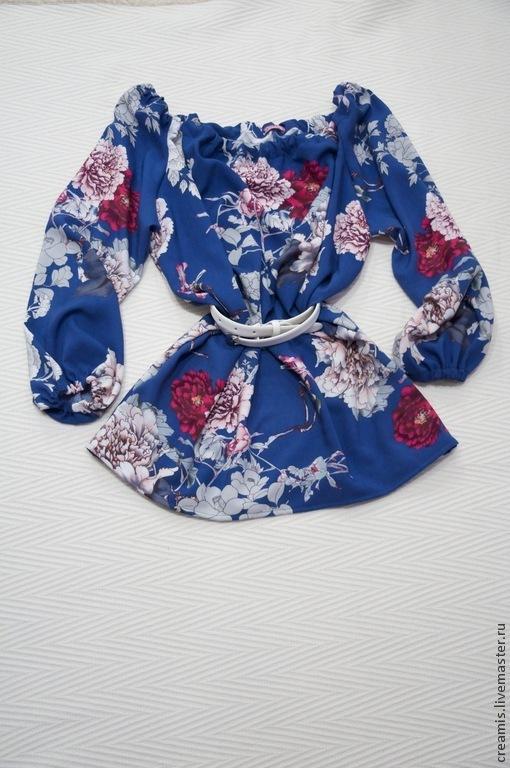 Блузки ручной работы. Ярмарка Мастеров - ручная работа. Купить Очаровательная туника. Handmade. Разноцветный, туника, красивая блузка