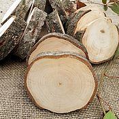 Материалы для творчества handmade. Livemaster - original item Saw cut wood: ( Set of 15 PCs).. Handmade.