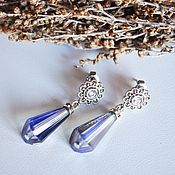 handmade. Livemaster - original item Earrings with crystals