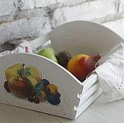 Для дома и интерьера ручной работы. Ярмарка Мастеров - ручная работа короб для фруктов. Handmade.