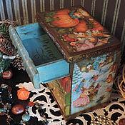 Для дома и интерьера ручной работы. Ярмарка Мастеров - ручная работа Сказка (времена года) Мини-комод (декупаж). Handmade.