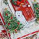 """Новогодняя открытка """"Новый год на пороге"""" (с новым годом). Открытки. Юля Шутегова (elfulka). Интернет-магазин Ярмарка Мастеров.  Фото №2"""