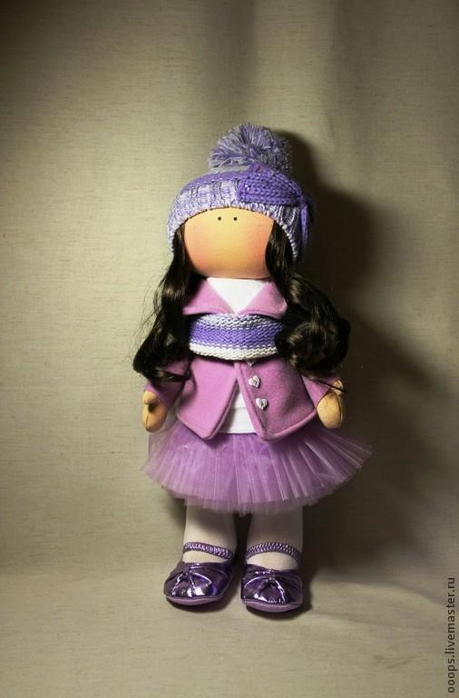 Коллекционные куклы ручной работы. Ярмарка Мастеров - ручная работа. Купить Интерьерная кукла. Handmade. Сиреневый, кукла в подарок, подарок