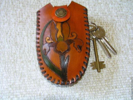 """Футляры, очечники ручной работы. Ярмарка Мастеров - ручная работа. Купить Футляр для ключей """"Рыжик"""". Handmade. Рыжий, ключница"""