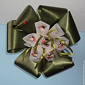 Цветы и флористика ручной работы. Ярмарка Мастеров - ручная работа Букет из 7 конфет Моцарт. Handmade.