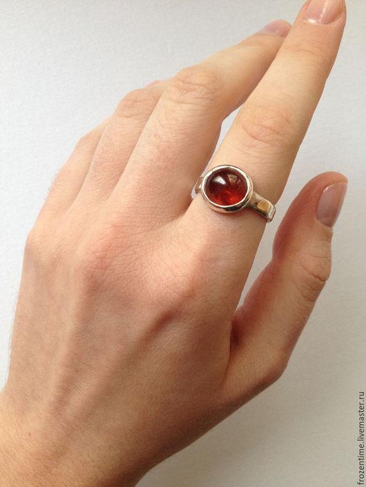 Кольца ручной работы. Ярмарка Мастеров - ручная работа. Купить Огоньки. Handmade. Рыжий, серебро