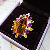 Украшения handmade. Livemaster - original item Ring the Madeira natural citrine, 25 carat. Handmade.