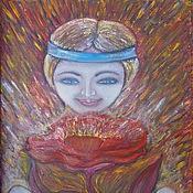 Картины и панно ручной работы. Ярмарка Мастеров - ручная работа Аленький цветочек.. Handmade.