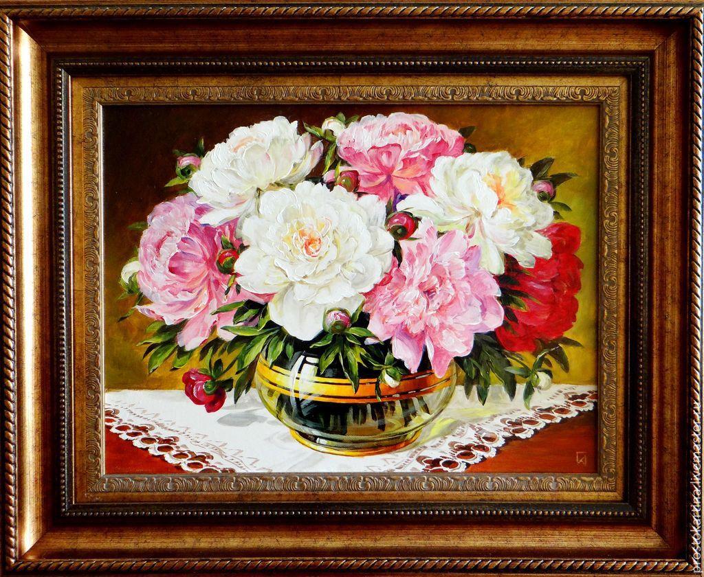 Flower Painting Handmade. Livemaster   Handmade. Buy U0027Peoniesu0027.Multicolor,  Painting