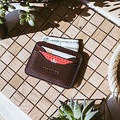 Сумки и аксессуары handmade. Livemaster - original item Wallet cardholders from chocolate leather MINNEAPOLIS. Handmade.