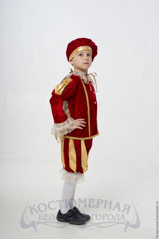 """Карнавальные костюмы ручной работы. Ярмарка Мастеров - ручная работа. Купить Костюм """"Принц"""" красный. Handmade. Ярко-красный"""