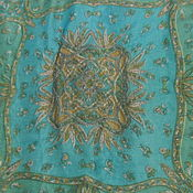 Винтаж handmade. Livemaster - original item Delicate Paisley scarf,100% Indian silk,vintage India. Handmade.
