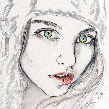 Картины и панно ручной работы. Ярмарка Мастеров - ручная работа Зимушка. Handmade.