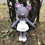 Мягкие игрушки ручной работы. Ярмарка Мастеров - ручная работа Мягкие игрушки: мышь балерина вязаная крючком. Handmade.
