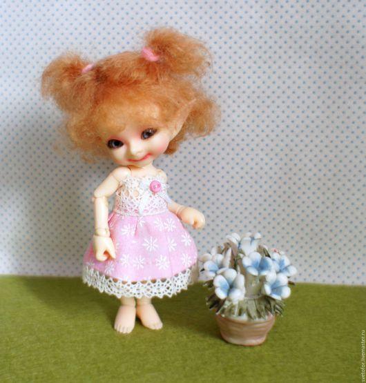 Одежда для кукол ручной работы. Ярмарка Мастеров - ручная работа. Купить Паричок для RealPuki девочки. Handmade. Бежевый, волосы для кукол