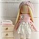 Коллекционные куклы ручной работы. Ярмарка Мастеров - ручная работа. Купить Кукла-малыш в розово-сливочной гамме. Handmade.