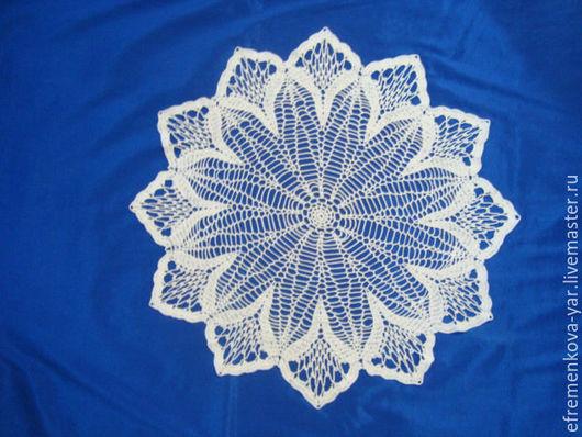 Текстиль, ковры ручной работы. Ярмарка Мастеров - ручная работа. Купить Салфетка Зимняя сказка. Handmade. Белый, ажурная салфетка