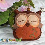 Куклы и игрушки ручной работы. Ярмарка Мастеров - ручная работа Сова из фетра. Handmade.