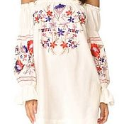 Одежда handmade. Livemaster - original item Copy of Copy of Copy of Women`s embroidered dress ЖП1-86. Handmade.