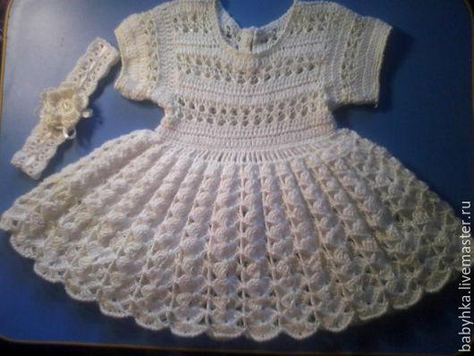 Одежда для девочек, ручной работы. Ярмарка Мастеров - ручная работа. Купить Детское платье. Handmade. Белый, крючок