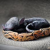 Подарки к праздникам handmade. Livemaster - original item Baby cat race. Handmade.