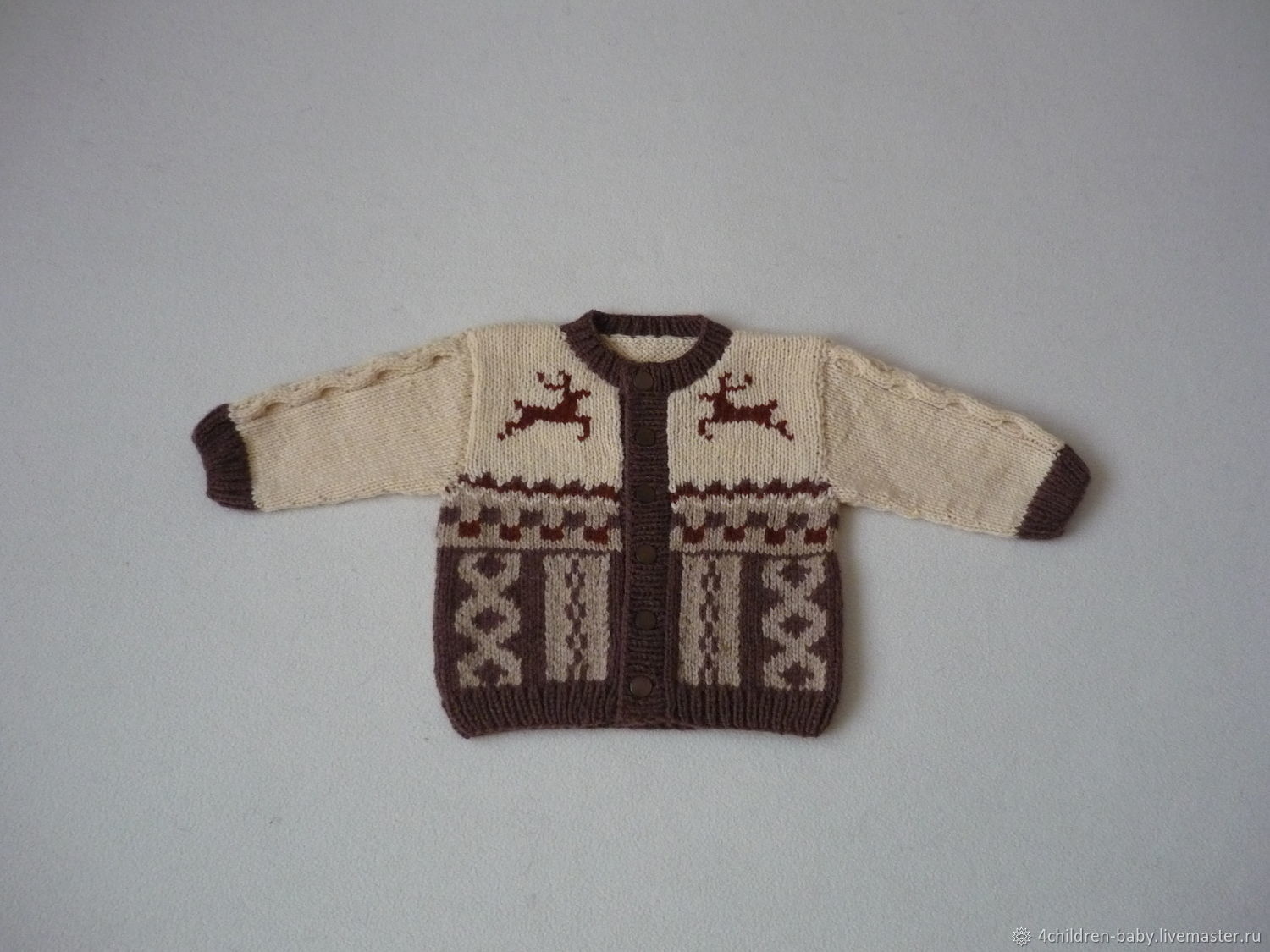 Jacket with deer and scandinavian patterns, Sweatshirts for children, Moscow,  Фото №1