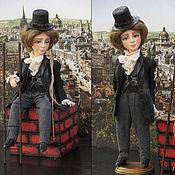 """Куклы и игрушки ручной работы. Ярмарка Мастеров - ручная работа """"Трубочист"""" по сказке Г.Х.Андерсена. Handmade."""