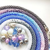 Украшения handmade. Livemaster - original item Lariat necklaces knitted beaded